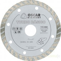 Disco Diamante General Obra Turbo Básico Ø115 Oscar.