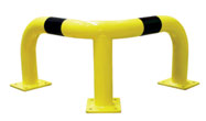 Barrera Seguridad Angular Amarillo/Negro 600x600x350 mm.