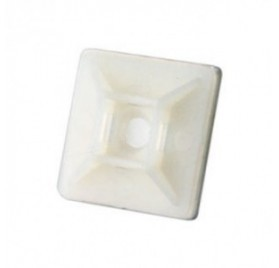 Base Adhesiva Blanca para Bridas de Nylon de 27x27mm.