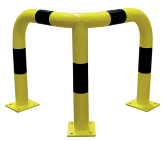 Barrera Seguridad Angular Amarillo/Negro 600x600x1200 mm.